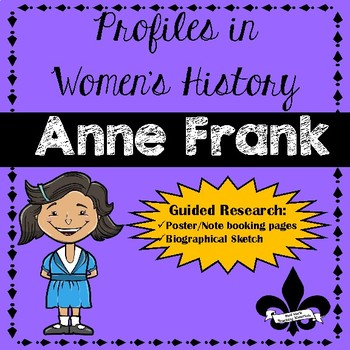 Anne frank curriculum teaching resources teachers pay teachers womens history guided research activity anne frank fandeluxe Image collections