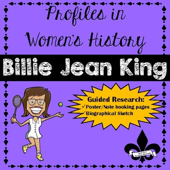 Women's History Guided Research Activity: Billir Jean King