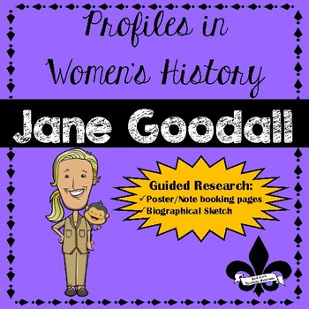 Women's History Guided Research Activity: Jane Goodall