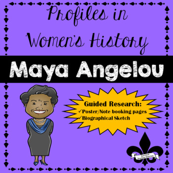 Women's History Guided Research Activity: Maya Angelou FREEBIE!!