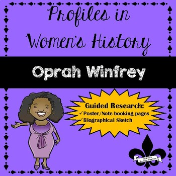 Women's History Guided Research Activity: Oprah Winfrey
