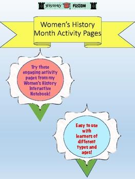 Women's History Interactive Notebook Sample