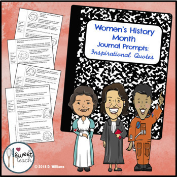 Women's History Journal Prompts:  Inspirational Quotes