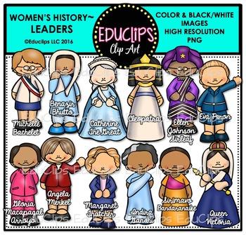 Women's History – Leaders Clip Art Bundle {Educlips Clipart}