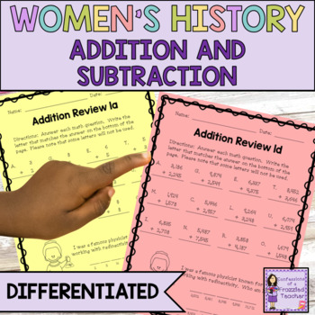 Women's History Math (Addition Review and Growing)
