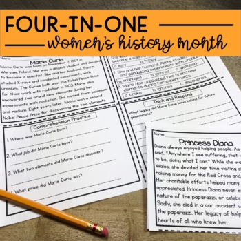 Women's History Month Reading Comprehension