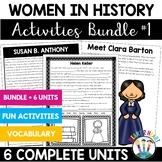 Women's History Month Activities: Famous Women in History BUNDLE with 6 women