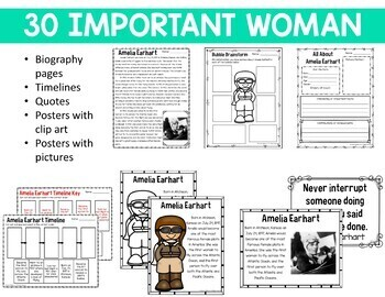 Women's History Month Reading Passages and Response Forms