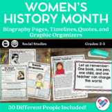 Women's History Month Reading Passages and Response Forms DISTANCE LEARNING