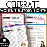 Women's History Month Activities Reading Passages Comprehension Digital