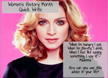 Women's History Month Activities