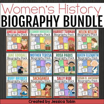 Women's History Month Activities- Biography Mini Bundle