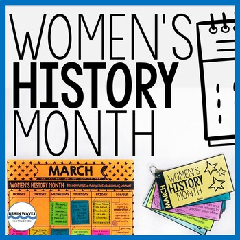 Women's History Month Activities, Lessons, Calendar, Women's History Biographies