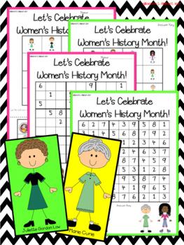 Women's History Month Activities -- Sudoku Puzzle Bundle