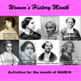 Women's History Month Activities and Presentations Bundle
