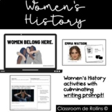 Women's History Month Activities and Writing Assignment