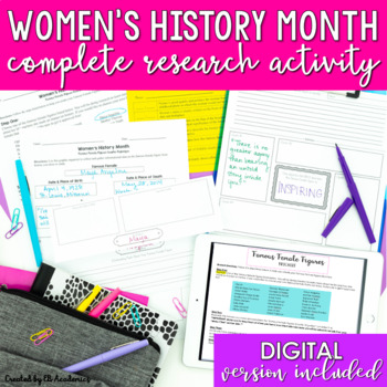 Women's History Month Research Activity for Middle School