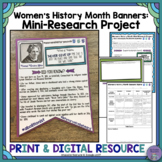 Women's History Month Banners: Mini-Research Project