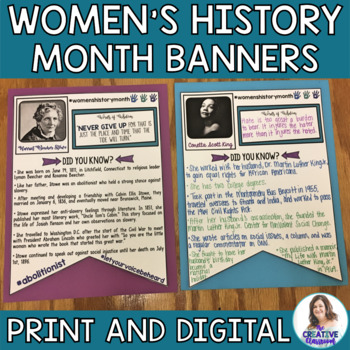Resources for Women's History Month 2020 and Beyond