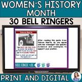 Women's History Month Bell Ringers