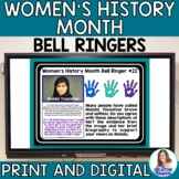 Women's History Month Bell Ringers