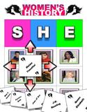 Women's History Month Bingo/ Matching Activity Game