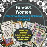 Famous Women, Biography, Interactive Notebook, Activities, Games