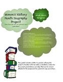 Women's History Month Biography Project Directions