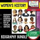 Women's History Month Biography Research & Interactive Notebook Google