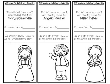 Women's History Month Bookmark Bundle