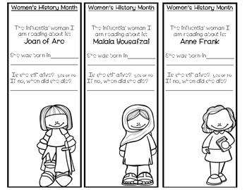 Women's History Month Bookmark Bundle