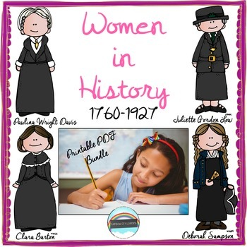 Women's History Month Close Read and Writing: Printable PDF Bundle