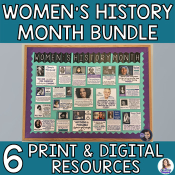 Women's History Month Bundle-Bell Ringers, Banners, and Bulletin Boards