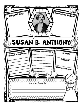 Women's History Month Research Organizers Bundle of 32