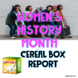 Women's History Month Cereal Box Report #halfoffsunday