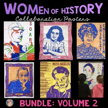 Women's History Month Activities: Collaboration Posters BUNDLE [Volume 2]