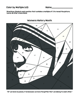 Women's History Month Color by Multiples of 3