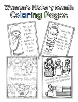 Women S History Month Coloring Pages Distance Learning Tpt