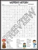 Women's History Month Activities Crossword Puzzle and Word Search Find