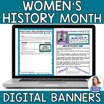 Women's History Month DIGITAL Banners: Mini-Research Project