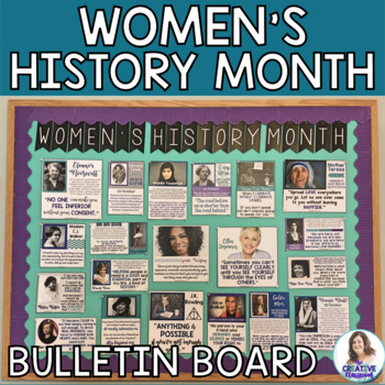 Women's History Month DIY Interactive Bulletin Board