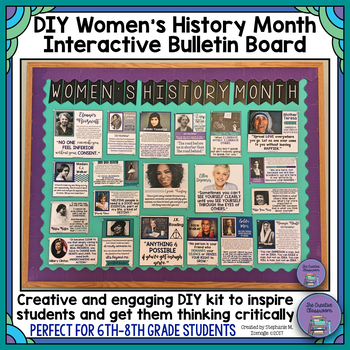 Women's History Month DIY Interactive Bulletin Board