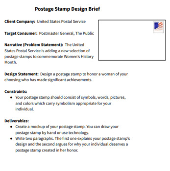 Women's History Month Design Challenge: Create a Postage Stamp!
