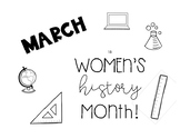 Women's History Month--Display Sign