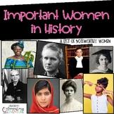 Women's History Month {FREEBIE}
