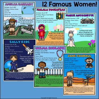 Women's History Month Fact Sheets for Early Readers