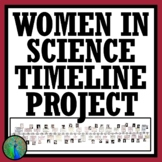 Women's History Month Female Scientist Activity Timeline Project 2 VERSIONS