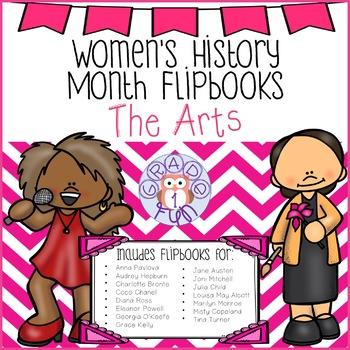 Women's History Month Flipbooks: The Arts