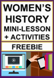 Women's History Month Free Lesson and Activities