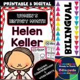 Women´s History Month - Helen Keller - Reading and Worksheets - Bilingual